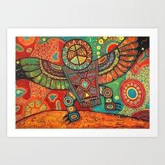 Shaman Dance: Day and Night Art Print