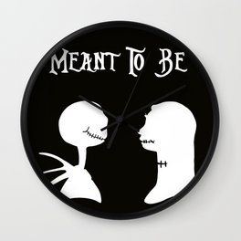 Jack & Sally Meant To Be Wall Clock