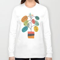 plant Long Sleeve T-shirts featuring Potted plant 2 by Picomodi
