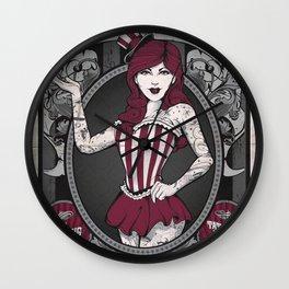 Freak Show - Amazing Tattooed Lady Wall Clock