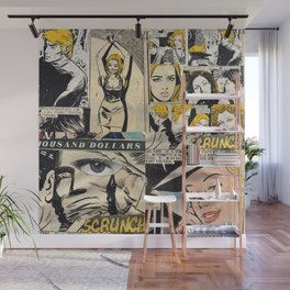 Italian Comics Vintage Pop art Collage Wall Mural