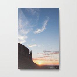 Sunrise on the Mittens Metal Print