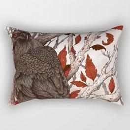 A Raven In Winter Rectangular Pillow