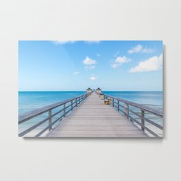 On the Pier Metal Print