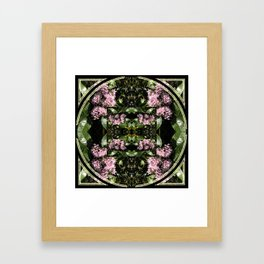 Butterflies and Flowers Mandala Framed Art Print