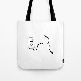 music by mp3 and earphone Tote Bag