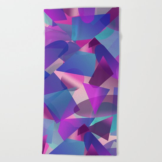Abstract cube II Beach Towel