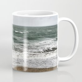 Land and sea under stormy clouds Coffee Mug