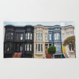 Colorful homes Beach Towel