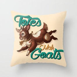 Totes Mah Goats (Light Version) Throw Pillow