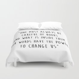 Words Have The Power To Change Us Duvet Cover