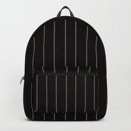 Black with Gray Pinstripes Backpack