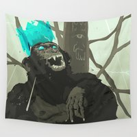carnage Wall Tapestries featuring Uneasy Lies the Head That Wears the Holographic Crown by Alex Craig