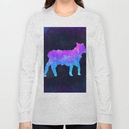 LAMB IN SPACE // Animal Graphic Art // Watercolor Canvas Painting // Modern Minimal Cute Long Sleeve T-shirt