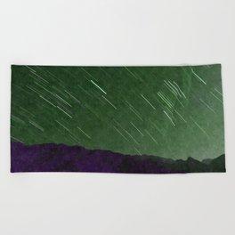 Juniper Skies with Shooting Stars Beach Towel