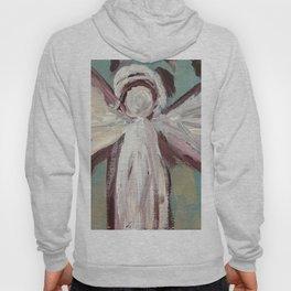Impressionistic Angel #2 Maroon & Ivory Hoody