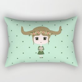 Taurus Girl Rectangular Pillow