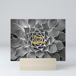 Choose happiness nature gold and black white Mini Art Print