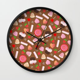Candies pattern Wall Clock
