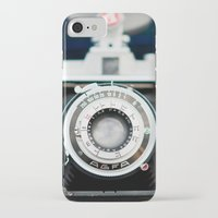 vintage camera iPhone & iPod Cases featuring Vintage Camera by Kurt Rahn