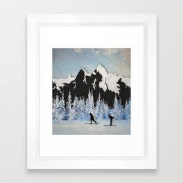 Cross Country Skiing Framed Art Print