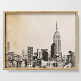 New York City Skyline Outline Serving Tray