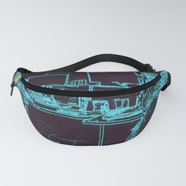 9-1-1 blue Fanny Pack