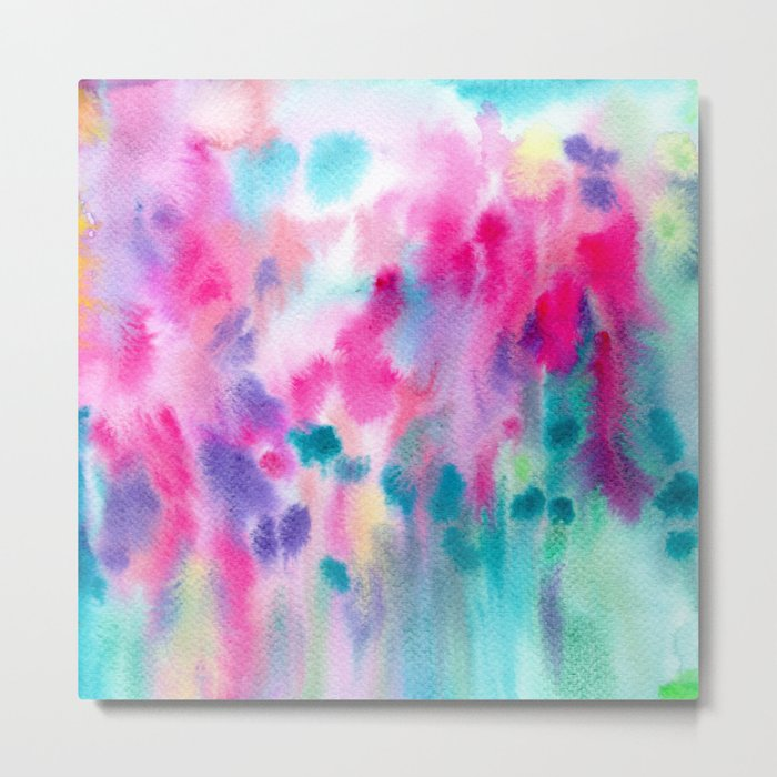 Colorful vibes || watercolor Metal Print