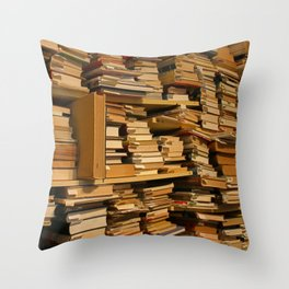 Books, books, books | Buecher, Buecher, Buecher Throw Pillow