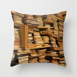 Books, books, books | Buecher, Buecher, Buecher Throw Pillow