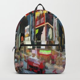 Times Square II (pastel paint style) Backpack