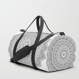 Black moroccan mandala Duffle Bag