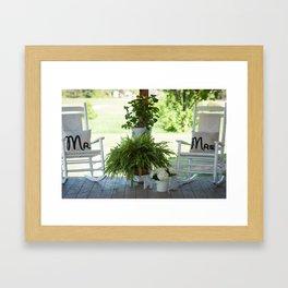 Mr. and Mrs. Framed Art Print