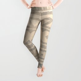 Ethnic geometric pattern with triangles circles shapes and lines Leggings