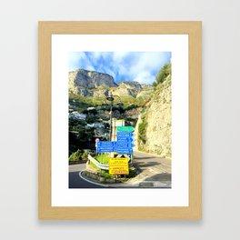 where to go? Framed Art Print