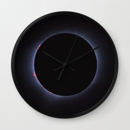 Totality - Solar Eclipse Wall Clock