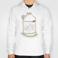 whiskey Hoodies featuring Whiskey Illustration  by Old South Inkery