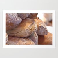 bread Art Prints featuring Bread by thliii