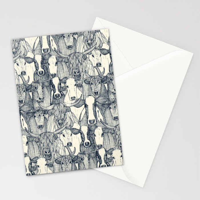 just cattle indigo pearl Stationery Cards