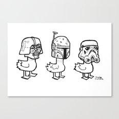 Star Wars Ducks  Canvas Print