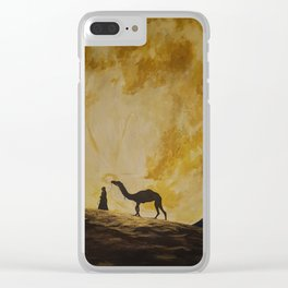 Travelling in Moonlight Clear iPhone Case