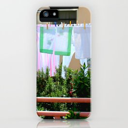 Laundry On the Line iPhone Case