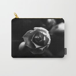 Black and White Kalanchoe Bud Carry-All Pouch
