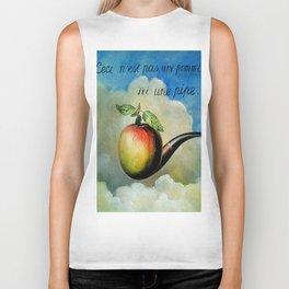 Ceci n'est pas une pomme ni une pipe Biker Tank
