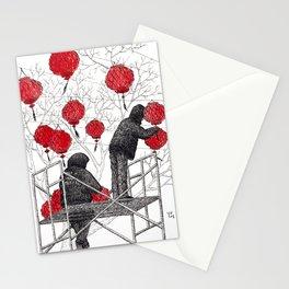 Chinese lanterns #1 Stationery Cards