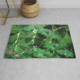 Abstract Magical Forest Rug