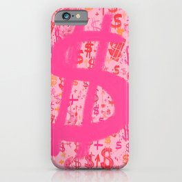 Pink Dollar Signs iPhone Case