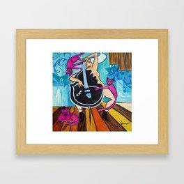 Pink Cats Framed Art Print