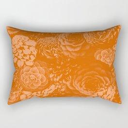 Moody Florals in Orange Rectangular Pillow