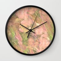 peony Wall Clocks featuring Peony  by Armin